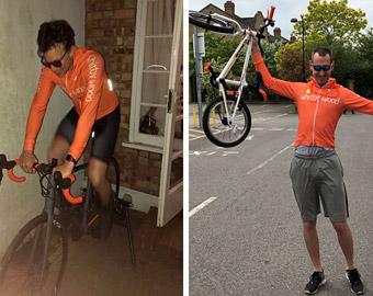 Seb and Chris cycle to MIPIM virtually