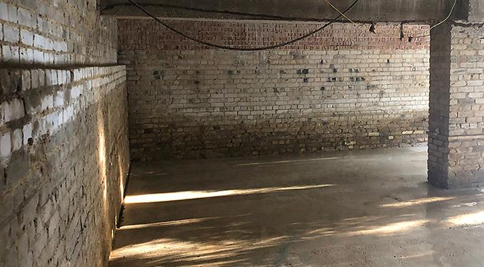 Cemfree basement slab